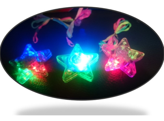 20 Collar Luminoso Dije Luz Led Fiesta Boda Batucada