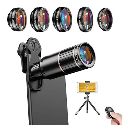 Apexel Cell Phone Camera Lens Kit -remote