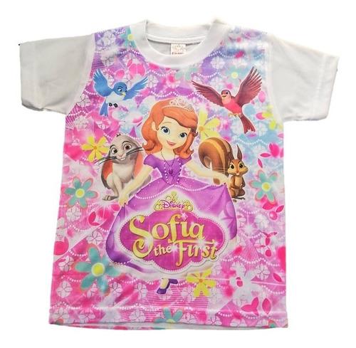 Camiseta Para Niña Estampado Princesa Sofia