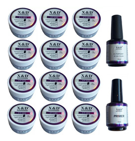 Caixa C/12 Gel Uv/led Xed + Top Coat + Primer Original