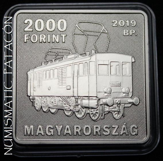 Moneda Cuadrada Hungria 2000 Forint 2019 Cuproníquel - Proof