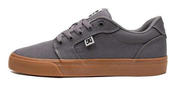 Tênis Dc Shoes Anvil Tx La Cinza / Caramelo