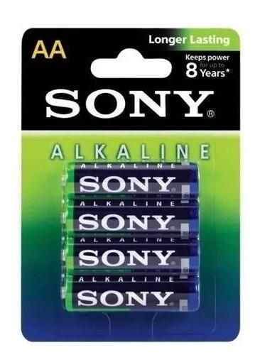 Kit 8 Cartelas Pilha Sony Alkalina Aa Am3l B4d