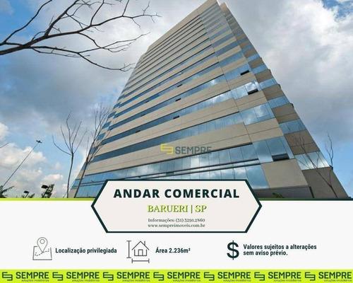 Imagem 1 de 12 de Laje Corporativa Para Alugar, 2.236 M² E 46 Vagas - Tamboré - Barueri/sp - Ac0027