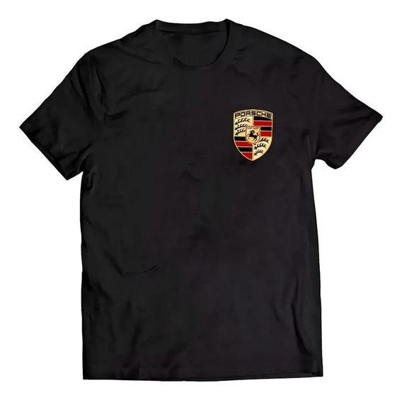 Camisa Camiseta Estampada Logo Esportivo Luxo Carro Porsche