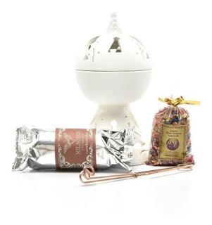 Kit Incensário Nossa Senhora Aparecida De Ceramica Completo