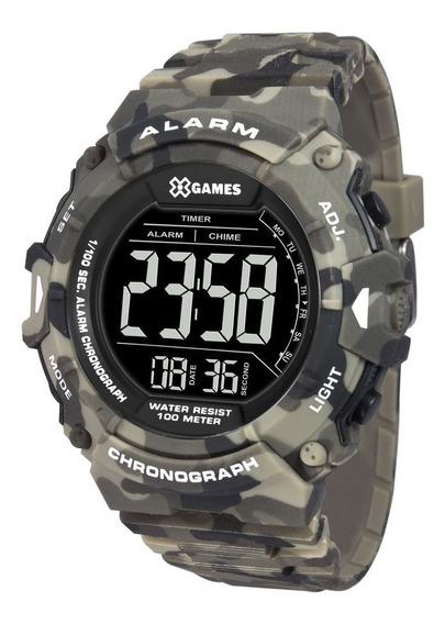Relógio X-games Masculino Camuflado Verde Xmppd488pxep