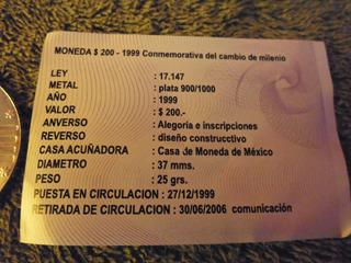 Moneda Plata 900 Conmemorativa Caja C Escudo Nacional