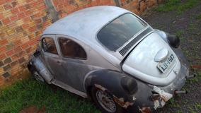 Volkswagen Vw Fusca 1963 Prata 60 Antigo Ratrod