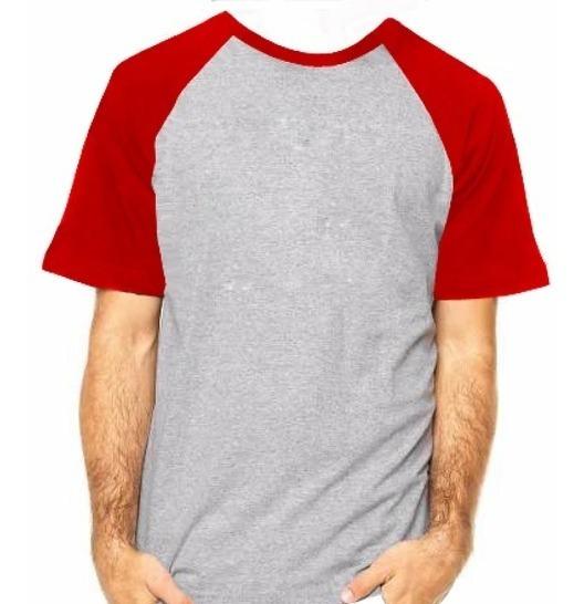 Camisa Raglan 100% Poliester Para Sublimação 05 Unidades