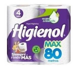 Papel Higienico Higienol Max 80 Metros Bulto 10 Paquetes 4 U