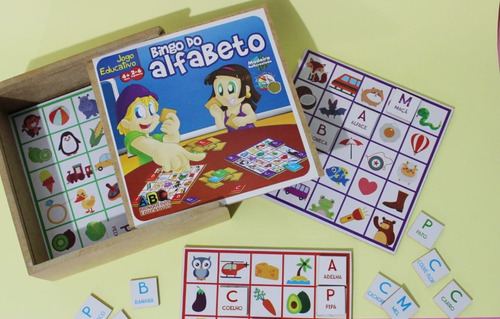 Bingo Do Alfabeto   Brinquedo Educativo