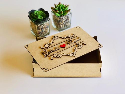 Imagem 1 de 5 de 20 Caixas Convite De Casamento Padrinhos Arabesco 5cm