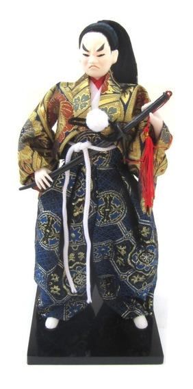 Boneco Samurai Japones Decoração 30cm Resina Hachi8