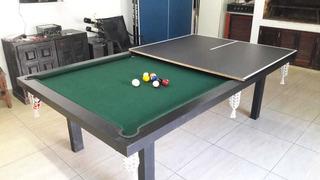 Mesa De Pool Profesional+accesorios+tapa Ping Pong+embalaje!