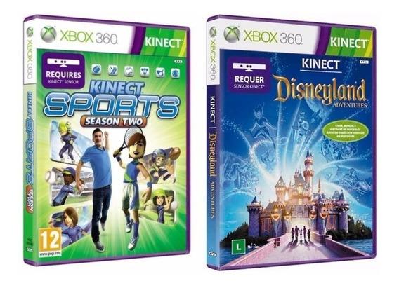 Kinect Sports 2 + Disneyland Adventures Novos Lacrados