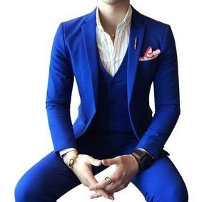 Terno Slim 3 - Azul Marinho