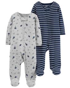 Kit 2 Pijamas Macacão Carters Menino