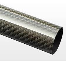 Tubo Fibra Carbono 3k - 20mm X18mm X 500mm