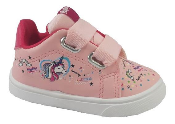 Zapatillas De Bebes Y Nenas Unicornios 18 Al 29 Con Cordones