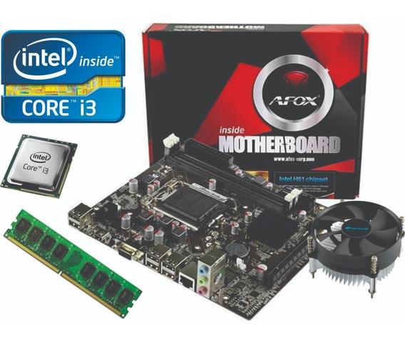 Kit Up Grade Intel Core I3 3200 Placa Mãe 1155 Mem 4gb Novo