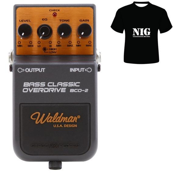 Pedal Waldman Bass Classic Overdrive Bco-2 + Camiseta Brinde