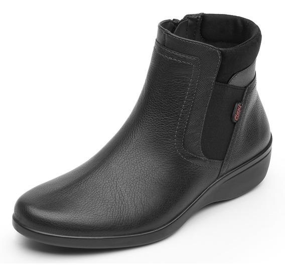 Zapatos Dama Estilo Botin Vestir Casual 18121 Negro Flexi