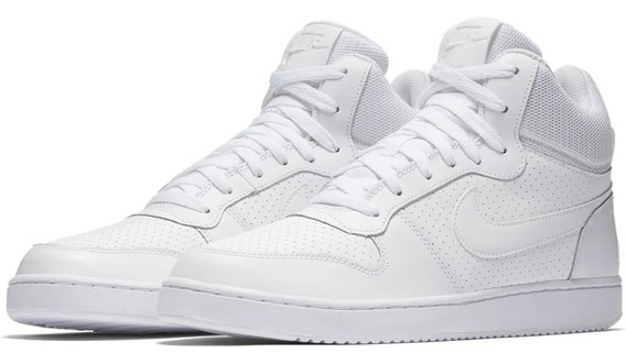 Tênis Nike Court Borough Mid Pronta Entrega All White Top