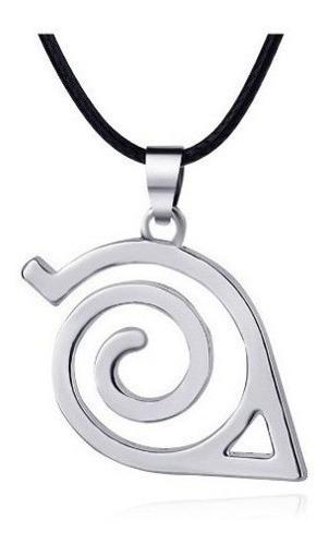 Colar Naruto Simbolo Da Aldeia Da Folha Cor Prata