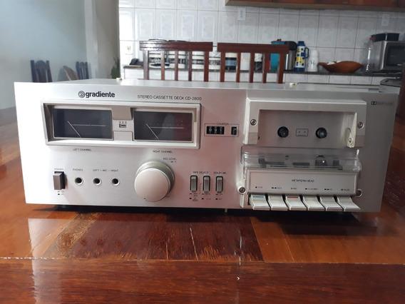 Tape Deck Gradiente Cd-2800 Em Estado De Zero.