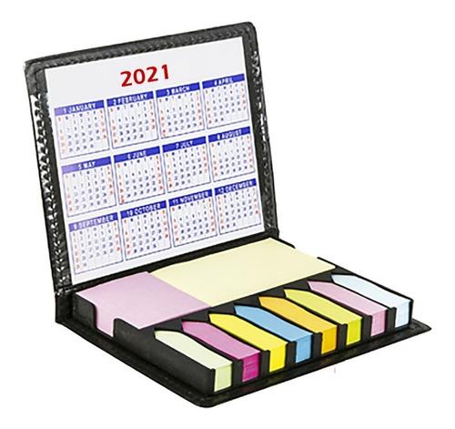 Imagen 1 de 9 de Estuche Con Notas Adhesivas Y Calendario 2021