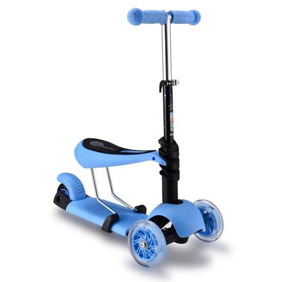Patinete 3 Em 1 Scooter Infantil 3 Rodas / Azul,rosa E Verde