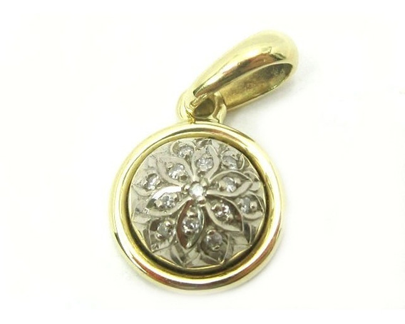 Joianete E9211-76343 Pingente Florido Diamantes Ouro
