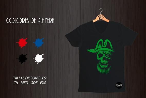 Playera Pirata - Algodón Peinado - Corte Recto