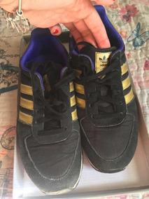 Tênis adidas Preto Com Dourado Tamanho 36