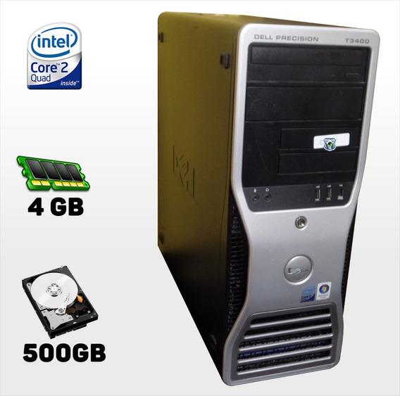Workstation T3400 Intel Core2quad Q6600 2.40ghz, 4gb, 500gb