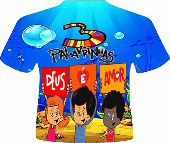 Camisa Masculina Infantil - 3 Palavrinhas