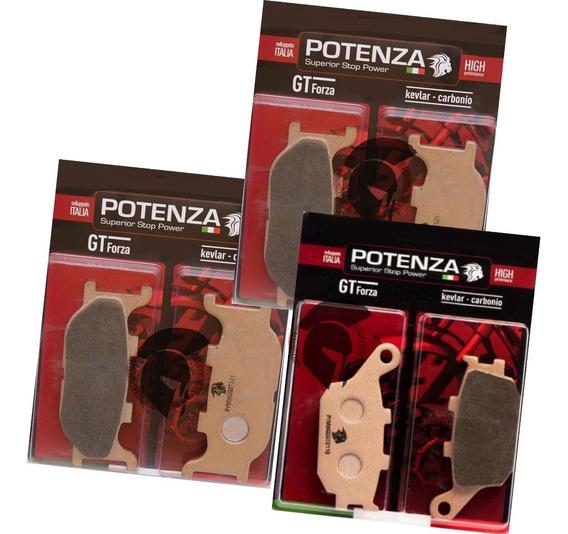 Kit Pastilhas Freio Diant + Tras Xj6 Xj 6 Potenza 172 174