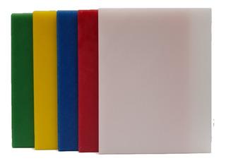 Set De 5 Tablas Para Picar De Colores, De 25x35 En 1/2