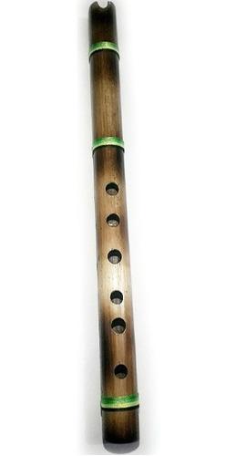 Quena Bambú Con Acabado Flameado Afinada En Sol