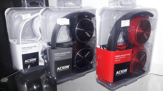 Auriculares Acson Vincha Plegable Cable Plano Antienredos