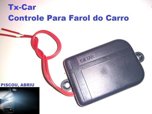 Tx-car Controle Remoto De Portão Para Farol De Carro 433mhz