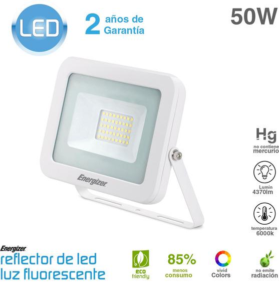 Reflector Led 50w 220v Blanco De Bajo Consumo Exterior
