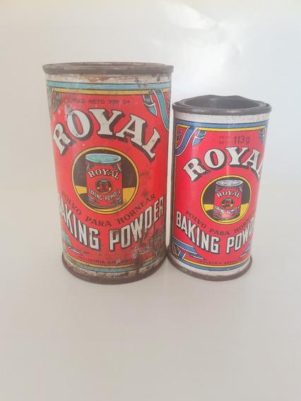 Dos Latas Antiguas De Royal Para Espolvorear Horno Deco Coc