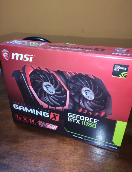 Msi Gtx 1050 Gaming X 2gb | Placa De Vídeo | Full Box Envío