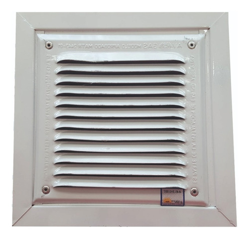 Imagen 1 de 4 de Rejilla De Ventilacion 15x15 Con Marco Gas / Construccion