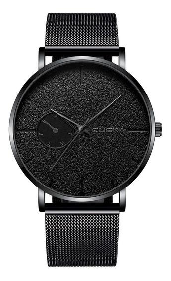 Relógio Masculino Executivo Pulseira Em Aço Inox Malha