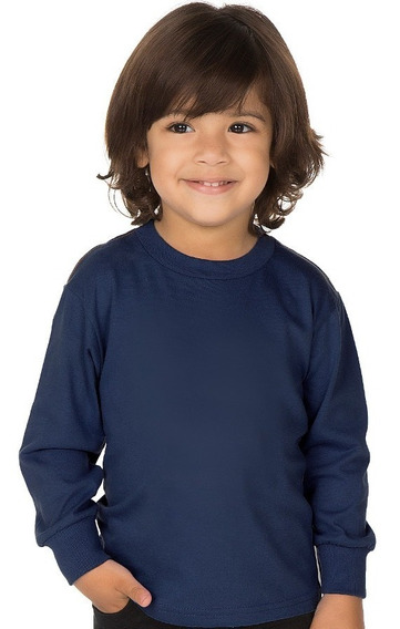 Roupa Infantil Menino Camiseta Manga Longa Escolar Isensee