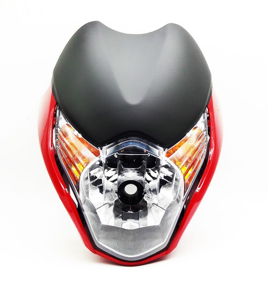 Kit Farol Com Carenagem Honda Titan 150 Mix 2010 Vermelha