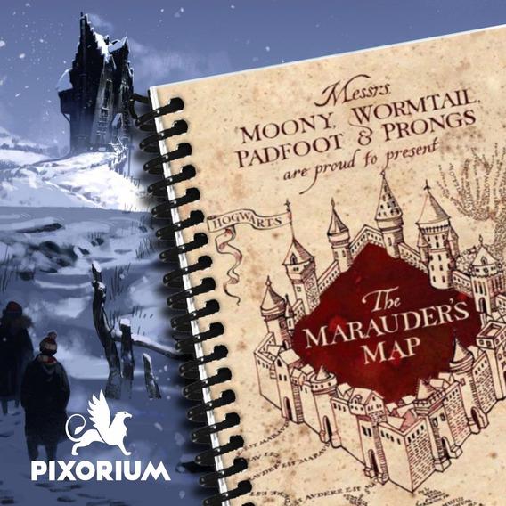 Libreta Anotador Harry Potter Bloc Espiral A5 (140x200 Mm)